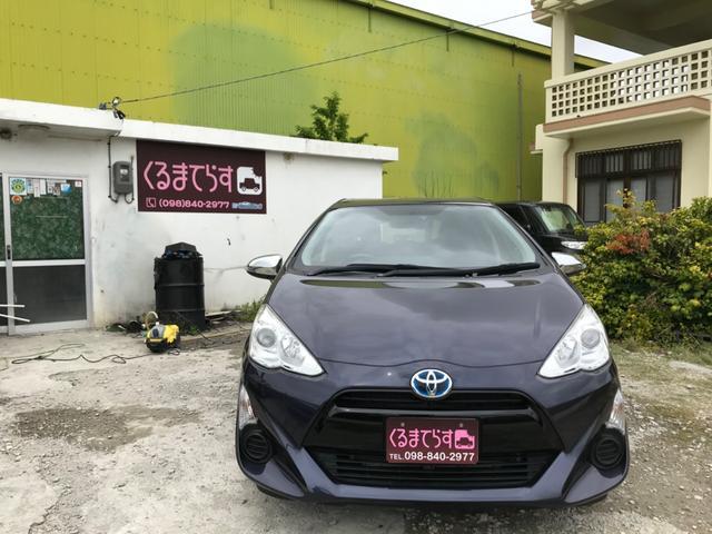 沖縄県の中古車ならアクア GナビTVETC外装コーティング