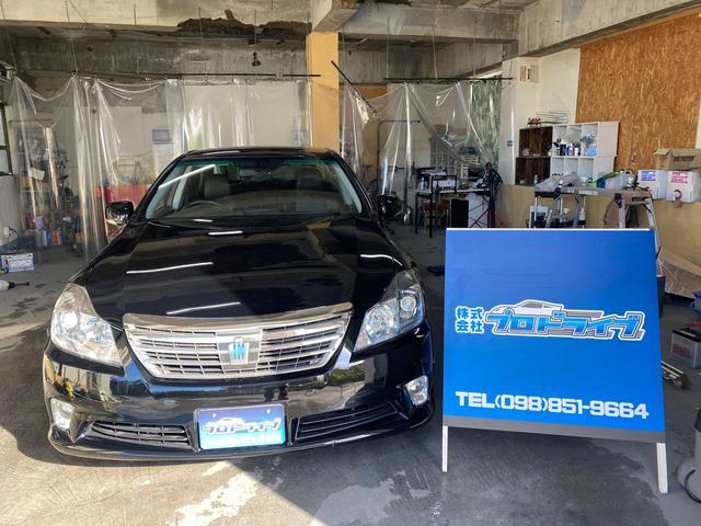 沖縄の中古車 トヨタ クラウンハイブリッド 車両価格 108万円 リ済込 2011(平成23)後 7.1万km ブラック