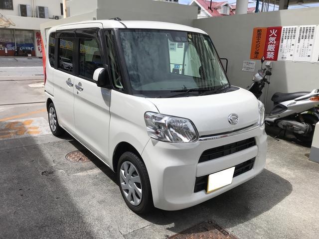 沖縄の中古車 ダイハツ タント 車両価格 113.5万円 リ済込 2017(平成29)年 2.5万km ホワイト