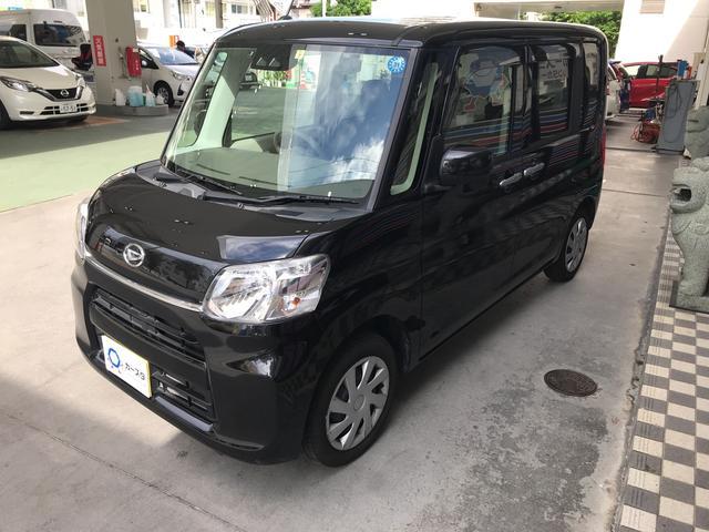 沖縄の中古車 ダイハツ タント 車両価格 113.5万円 リ済込 平成29年 2.9万km ブラック
