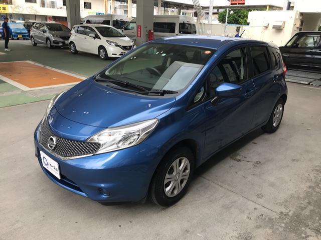 沖縄の中古車 日産 ノート 車両価格 69万円 リ済込 平成27年 4.4万km ブルー