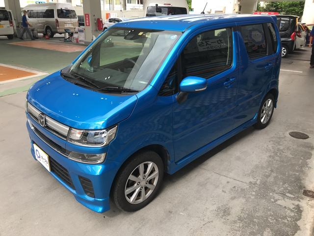 沖縄の中古車 マツダ フレア 車両価格 129.7万円 リ済込 2017(平成29)年 2.7万km ブルー