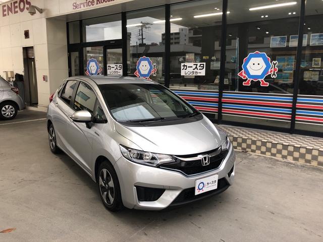 沖縄の中古車 ホンダ フィットハイブリッド 車両価格 170万円 リ済込 2017(平成29)年 2.6万km シルバーM