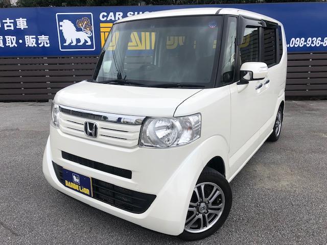 沖縄の中古車 ホンダ N-BOX 車両価格 98万円 リ済別 2014(平成26)年 3.5万km パールホワイト