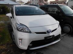沖縄の中古車 トヨタ プリウス 車両価格 149万円 リ済込 平成25年 7.0万K パールホワイト