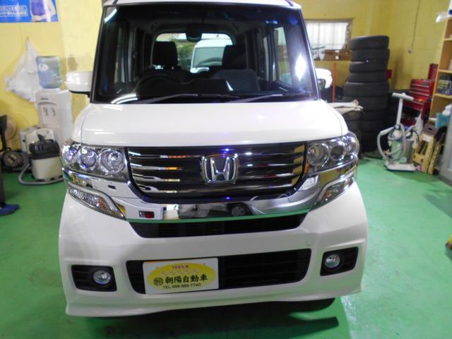 沖縄の中古車 ホンダ N BOXカスタム 車両価格 99万円 リ済込 平成24年 6.1万km パールホワイト