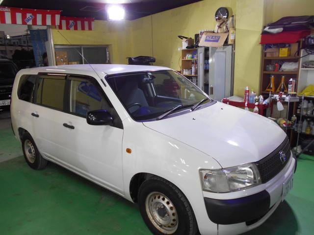 沖縄の中古車 トヨタ プロボックスバン 車両価格 39万円 リ済込 2003(平成15)年 6.5万km ホワイト