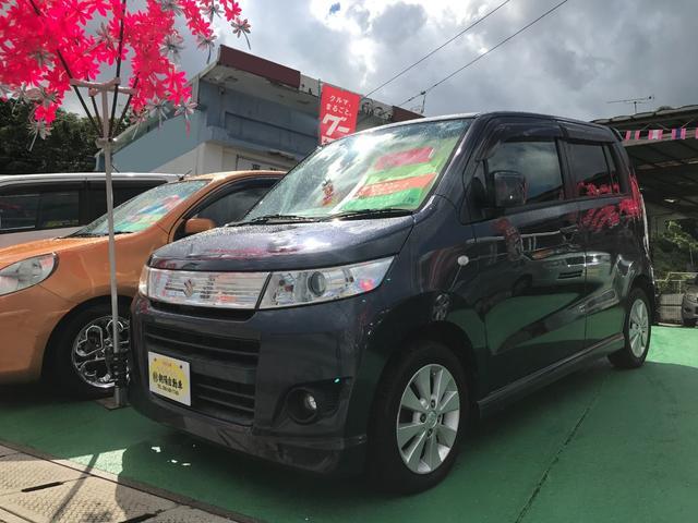 沖縄県の中古車ならワゴンRスティングレー X プッシュスタート HIDライト シートヒーター付き