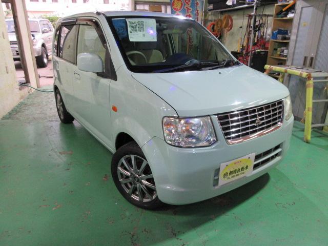 沖縄の中古車 三菱 eKワゴン 車両価格 39万円 リ済込 2010(平成22)年 4.2万km Lグリーン
