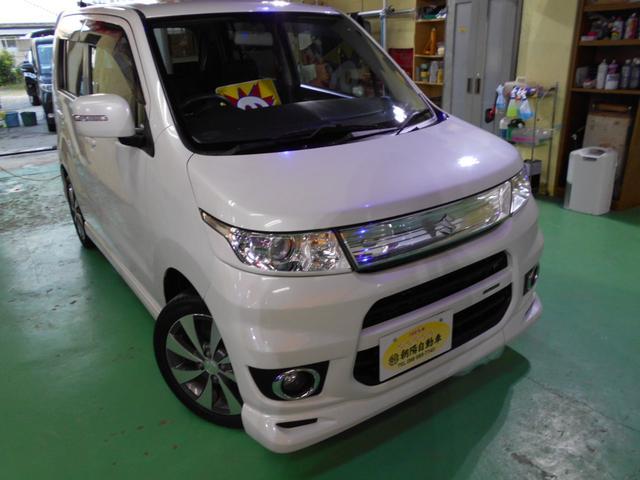 沖縄の中古車 スズキ ワゴンRスティングレー 車両価格 65万円 リ済込 2011(平成23)年 8.5万km パールホワイト