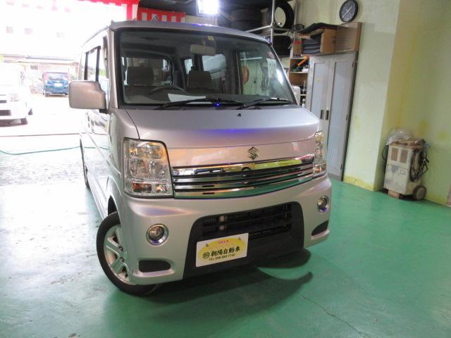 沖縄県うるま市の中古車ならエブリイワゴン PZターボスペシャル キーレス オートステップ 両側パワースライドドア HDDナビ付 2年保証