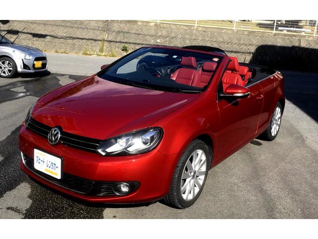 沖縄の中古車 フォルクスワーゲン VW ゴルフカブリオレ 車両価格 140万円 リ済別 2012(平成24)年 5.5万km レッド