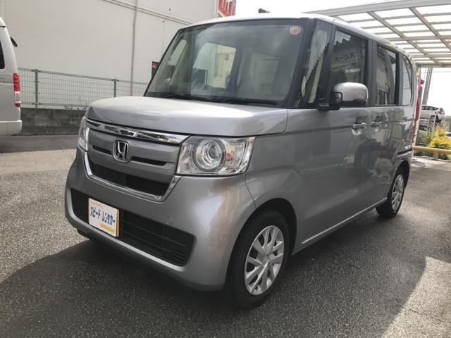沖縄の中古車 ホンダ N-BOX 車両価格 100万円 リ済別 2017(平成29)年 1.8万km シルバー