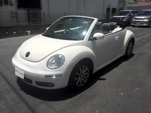 沖縄の中古車 フォルクスワーゲン VW ニュービートルカブリオレ 車両価格 79万円 リ済別 2008年 6.9万km ホワイト
