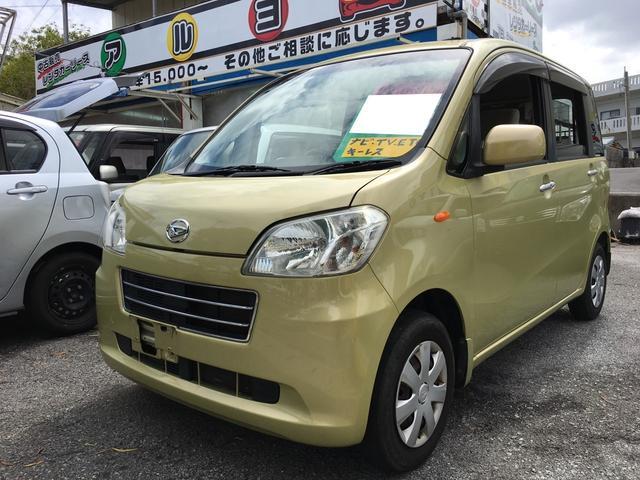 沖縄の中古車 ダイハツ タントエグゼ 車両価格 43万円 リ済込 平成22年 9.6万km グリーンM