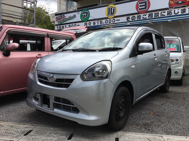 沖縄の中古車 ダイハツ ミライース 車両価格 40万円 リ済込 平成25年 8.8万km ブライトシルバーメタリック