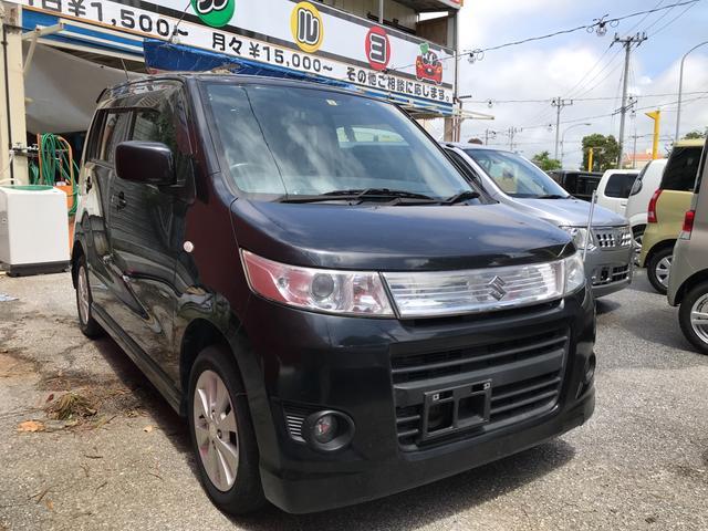 沖縄の中古車 スズキ ワゴンRスティングレー 車両価格 43万円 リ済込 2011(平成23)年 10.0万km スパークブラックパール