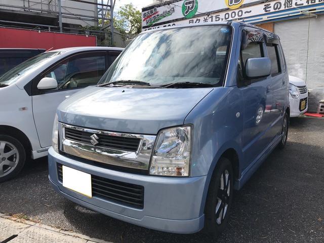 沖縄の中古車 スズキ ワゴンR 車両価格 24万円 リ済込 平成16年 9.8万km レイクブルーメタリック