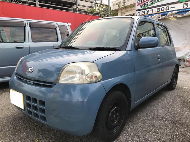 沖縄の中古車 ダイハツ エッセ 車両価格 18万円 リ済込 平成18年 7.2万km シーブルー