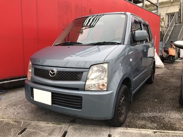 沖縄の中古車 マツダ AZワゴン 車両価格 13万円 リ済込 平成18年 18.4万km アズールグレーパールメタリック