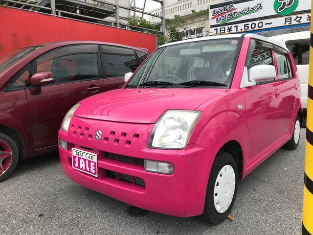 沖縄の中古車 スズキ アルト 車両価格 25万円 リ済込 2008(平成20)年 12.6万km ピンクII