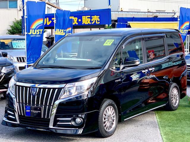 沖縄県沖縄市の中古車ならエスクァイア ハイブリッドGi 特別仕様エアロスタイル・ルーフスポイラー・9インチモデルBIGナビ・レザーシート・フリップダウンモニター・ルーフスピーカー・置くだけスマホ充電・・・