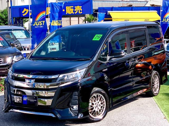 沖縄県沖縄市の中古車ならノア ハイブリッドSi NEW後期モデル・9インチモデルBIGナビ・フリップダウンモニター・Wパワースライドドア・プリクラッシュレーダーブレーキサポート・・・