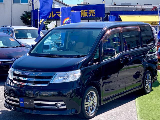 沖縄県の中古車ならセレナ ライダー 左パワースライドドア・サイドorバックカメラ・ナビ・DVD・電動純正フリップダウンモニター付き・インテリキー・ETC・・・