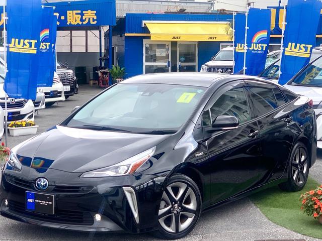 沖縄の中古車 トヨタ プリウス 車両価格 255万円 リ済込 2019(令和1)後 1.6万km ブラックM