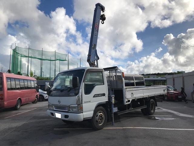 沖縄県の中古車ならアトラストラック 3段クレーン アウトリガー差し違い