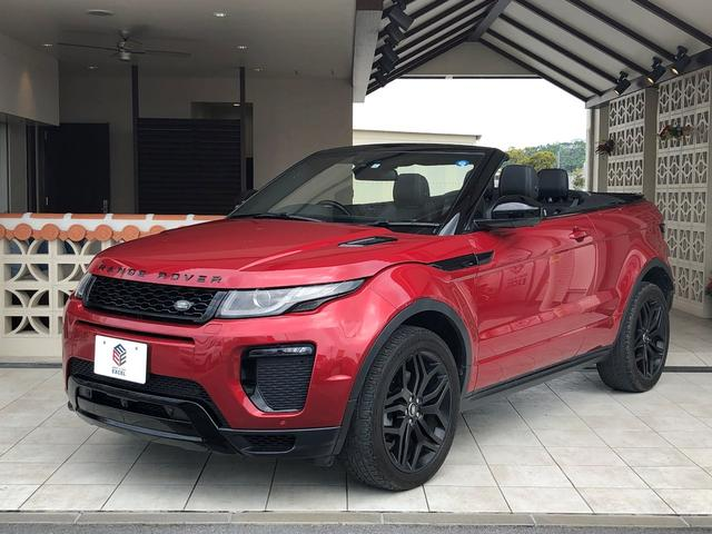 沖縄県の中古車ならレンジローバーイヴォークコンバーチブル HSEダイナミックブラックパック20アロイ新車保証継承