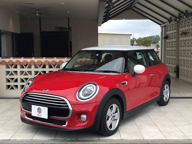 沖縄県の中古車ならMINI クーパー3ドア白ルーフ&ミラーキャップナビETC新車保証継承