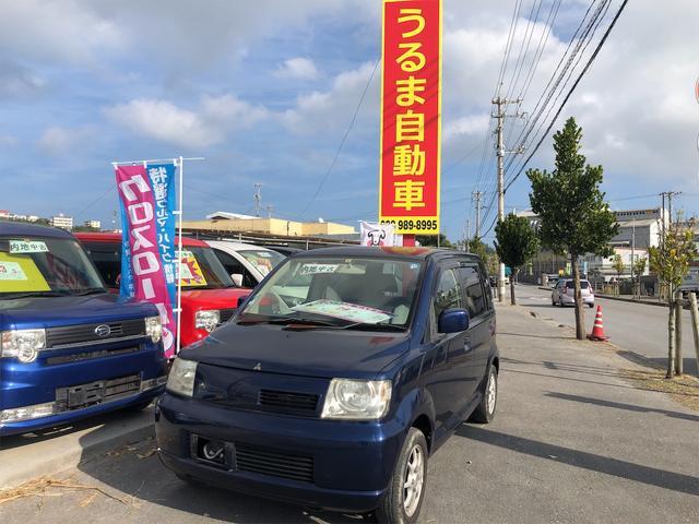 沖縄の中古車 三菱 eKワゴン 車両価格 12万円 リ済込 2002(平成14)年 1.4万km 紺