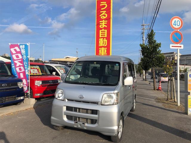 沖縄の中古車 ダイハツ ハイゼットカーゴ 車両価格 33万円 リ済込 2005(平成17)年 8.1万km シルバー