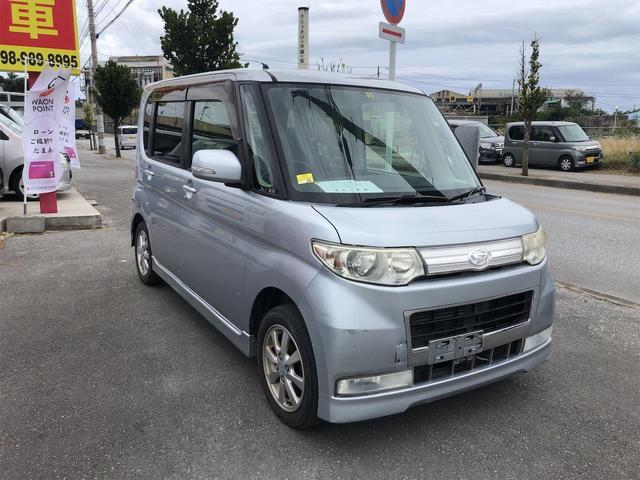 沖縄県うるま市の中古車ならタント カスタムX・電動スライド・内地中古車・修復無・HID・ナビ