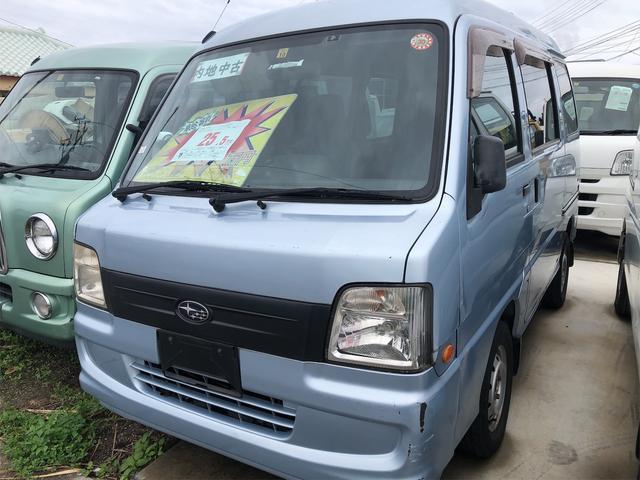 沖縄の中古車 スバル サンバーバン 車両価格 15万円 リ済別 2007(平成19)年 11.0万km ライトブルー