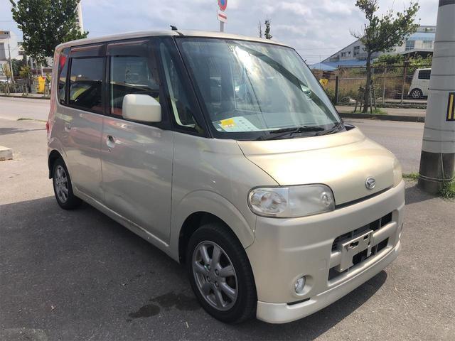 沖縄の中古車 ダイハツ タント 車両価格 8.9万円 リ済別 2006(平成18)年 9.6万km ゴールド