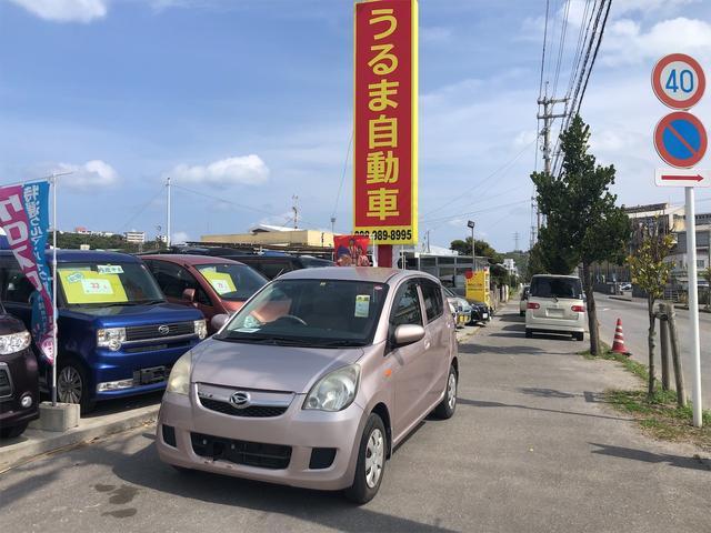 沖縄の中古車 ダイハツ ミラ 車両価格 13万円 リ済別 2009(平成21)年 10.2万km ピンク