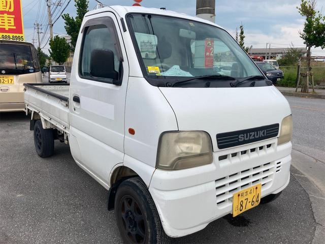 沖縄県の中古車ならキャリイトラック KU 内地仕入専門店・内地仕入・5MT マニュアル・車検 令和3年12月まで・エアコン付・タイミングチェーン式・