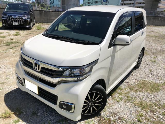 沖縄の中古車 ホンダ N-WGNカスタム 車両価格 110.2万円 リ済込 平成29年 1.6万km ホワイト