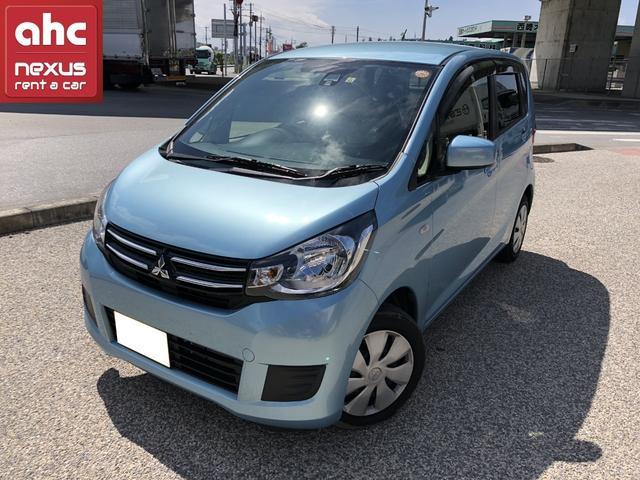 沖縄の中古車 三菱 eKワゴン 車両価格 118.6万円 リ済別 平成29年 1.6万km ブルー