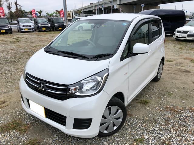 沖縄の中古車 三菱 eKワゴン 車両価格 91.5万円 リ済別 2017(平成29)年 2.2万km ホワイト