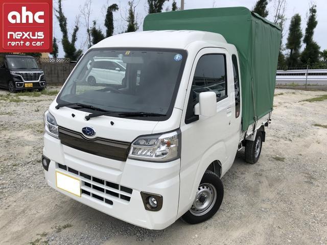 沖縄の中古車 スバル サンバートラック 車両価格 114.3万円 リ済別 2018(平成30)年 0.5万km ホワイト