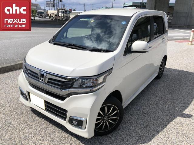 沖縄の中古車 ホンダ N-WGNカスタム 車両価格 123万円 リ済別 2018(平成30)年 1.8万km ホワイト