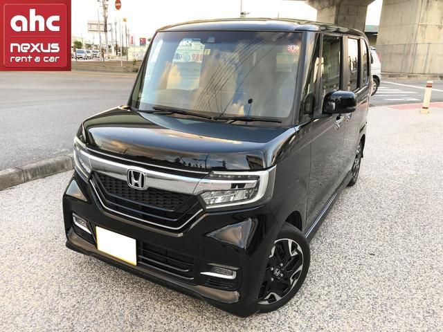 沖縄の中古車 ホンダ N-BOXカスタム 車両価格 165万円 リ済別 2018(平成30)年 1.9万km ブラック