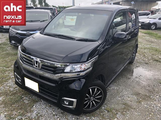 沖縄の中古車 ホンダ N-WGNカスタム 車両価格 126.3万円 リ済別 2018(平成30)年 1.2万km ブラック
