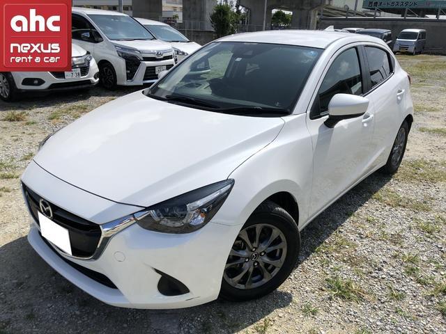 沖縄の中古車 マツダ デミオ 車両価格 131.8万円 リ済別 2018(平成30)年 2.3万km ホワイト