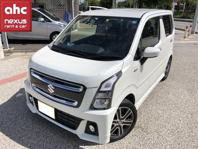 沖縄の中古車 スズキ ワゴンRスティングレー 車両価格 129万円 リ済別 2018(平成30)年 1.9万km ホワイト