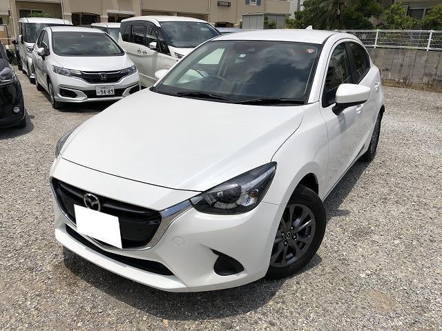 沖縄の中古車 マツダ デミオ 車両価格 131.8万円 リ済別 2018(平成30)年 2.0万km ホワイト