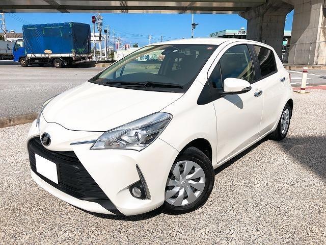 沖縄の中古車 トヨタ ヴィッツ 車両価格 116.7万円 リ済込 2019(令和1)年 1.5万km ホワイト